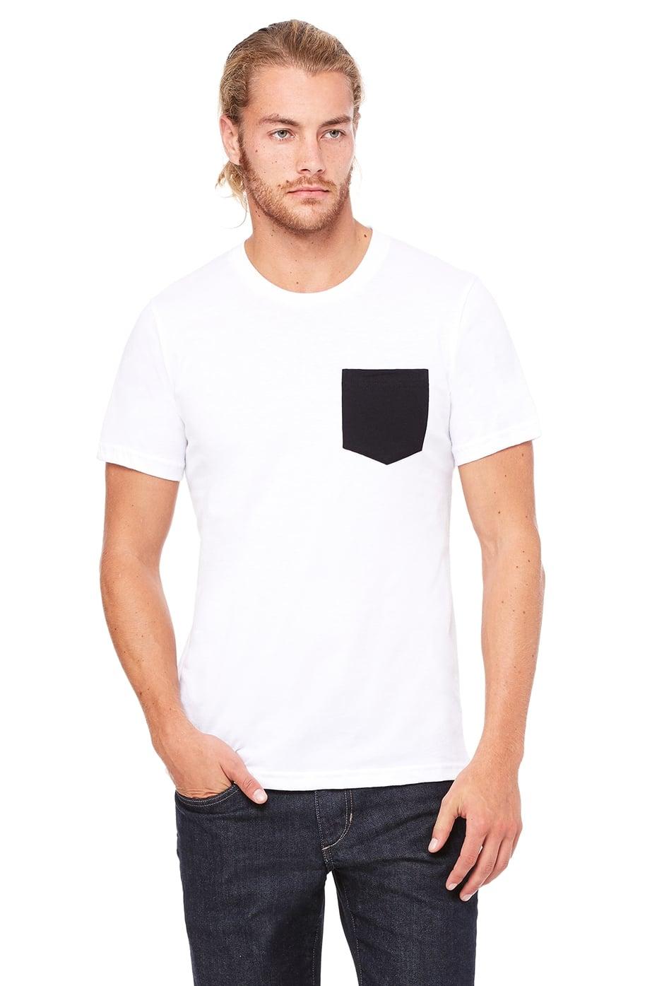 5b8bb77133a206 Camiseta con bolsillo combinado hombre.